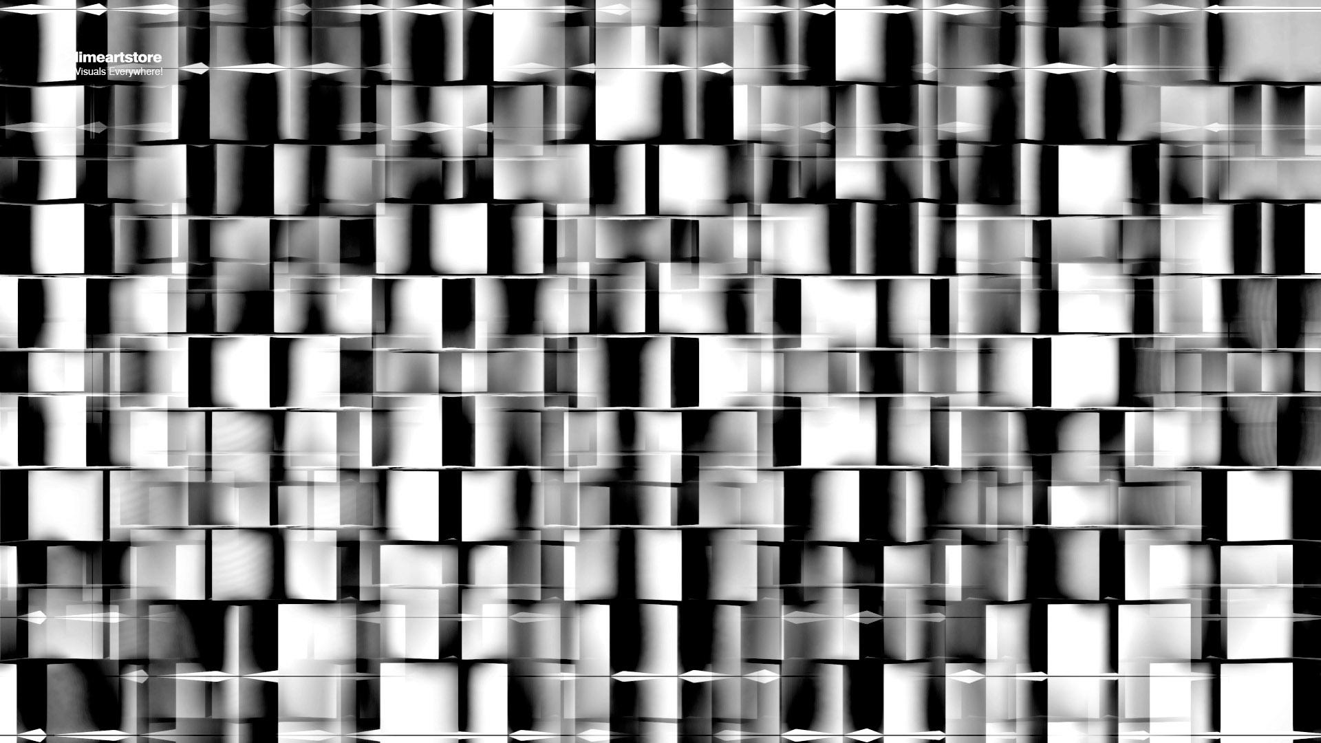 Cubes Displace Video Mapping VJ Loop