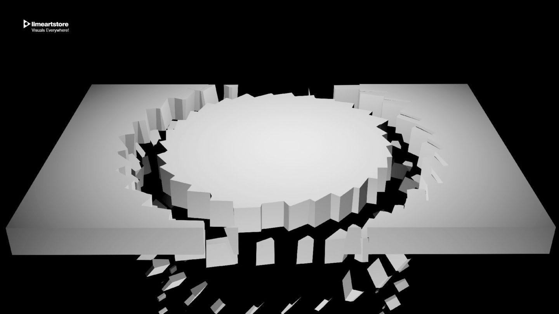 Video Mapping Loops VJ loop 3d displace visuals facade (34)