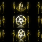 Gold-Evil-Girl-Vj-Loop-LIMEART VJ Loops Farm - Video Loops & VJ Clips