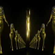 Gold-Evil-Girl-Vj-Loop-LIMEART_001 VJ Loops Farm - Video Loops & VJ Clips
