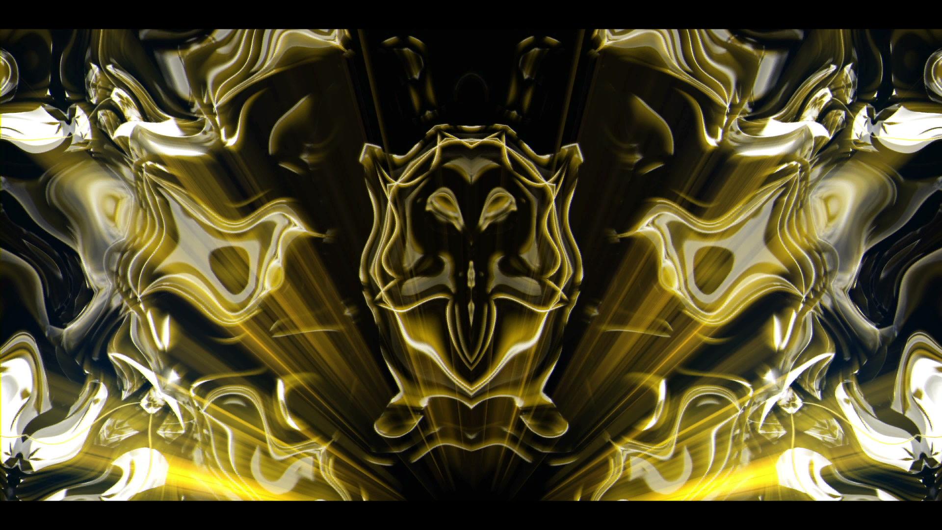 Gold Maya - VJ Video Loop  Full HD Tribal Motion Background