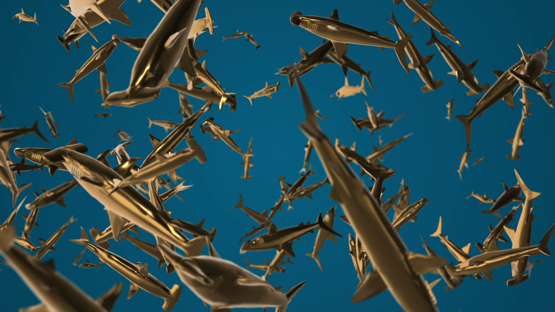 vj video background Gold-Sharks-VJ-Loop-LIMEART_003