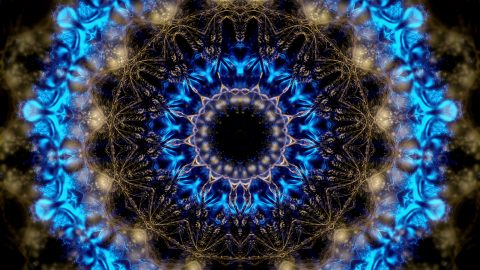 vj video background Gothic-Blue-Kaleido-LIMEART-VJ-Loop_003