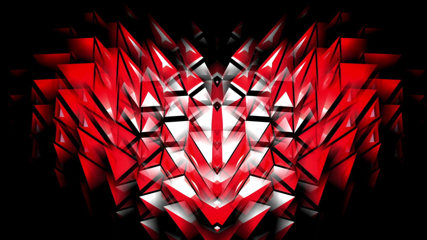 vj video background Polygonal-Heartbeat-Symbol-LIMEART_003