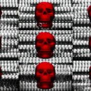Skull-Shake-Red-Skull-Pattern-Short-Vj-Loop-Full-HD-LIMEART VJ Loops Farm - Video Loops & VJ Clips