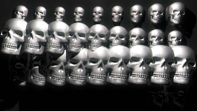 Skull-Wall-FullHD-Vj-loop_001 VJ Loops Farm - Video Loops & VJ Clips