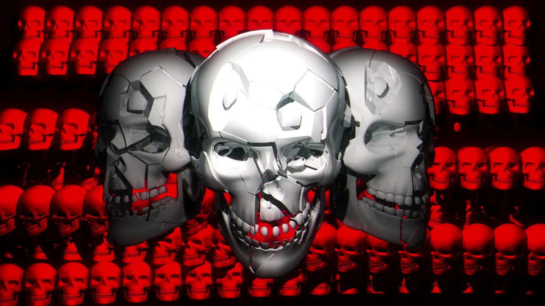 Trio-Skullface-Full-HD-Vj-Loop-LIMEART_001 VJ Loops Farm - Video Loops & VJ Clips