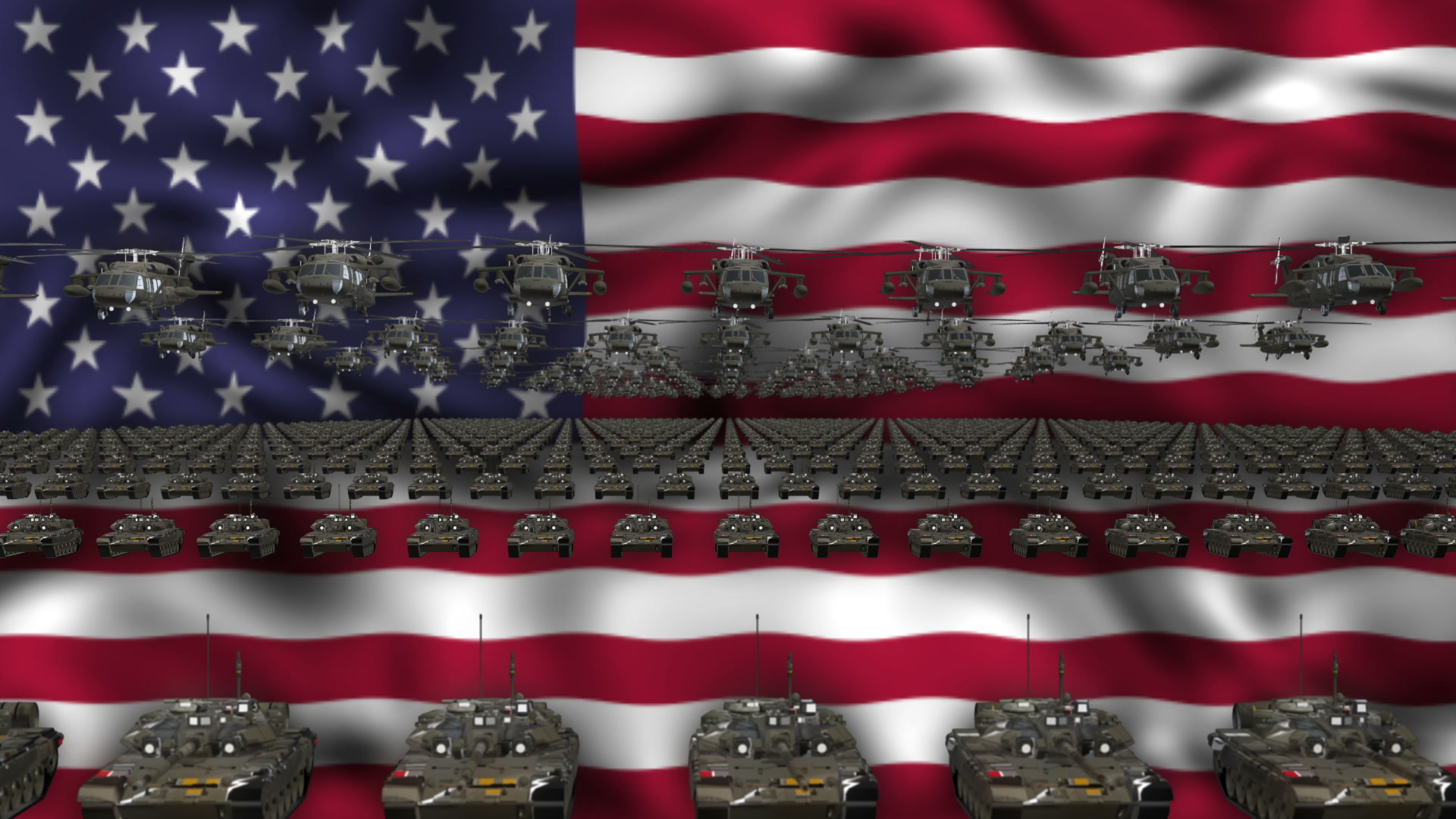 usa army flag - vj loop. video vj clip. ful hd visuals