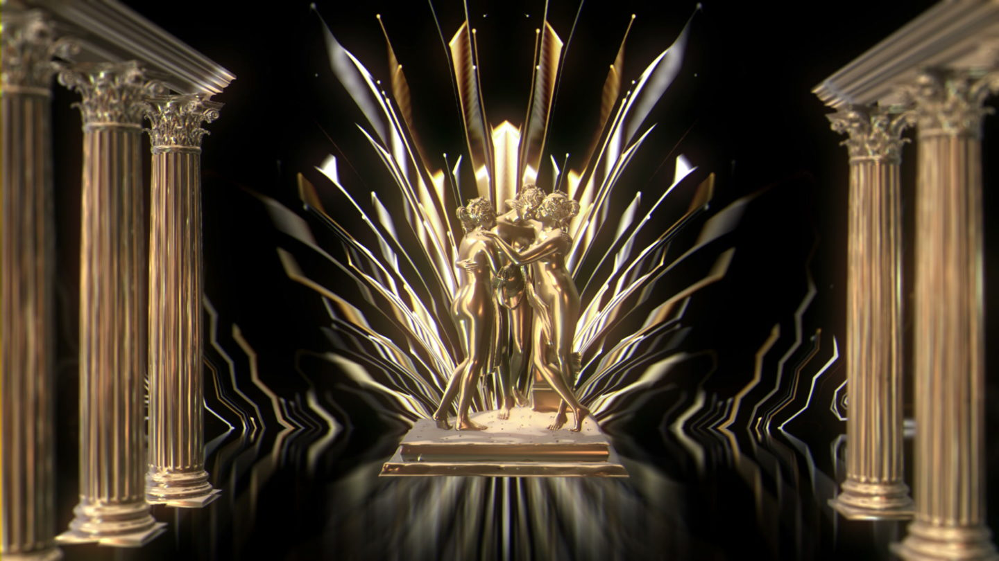 vj video background Gold-Girls-Statue-VJ-Loop-LIMEART_003