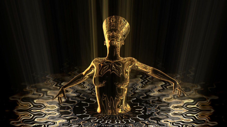 vj video background Nefertiti-Gold-Rays-Vj-Loop-LIMEART_003