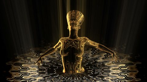 vj video background Nefertiti-Gold-Rays-Vj-Loop-LIMEART_003