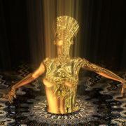 Nefertiti-Gold-Rays-Vj-Loop-LIMEART_008 VJ Loops Farm - Video Loops & VJ Clips