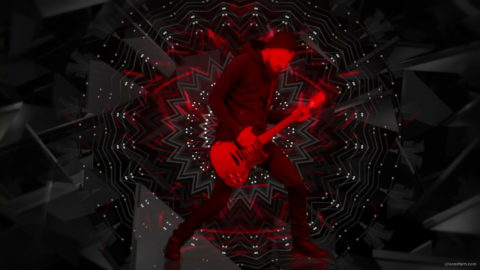 vj video background Guitar-Red-One-Center-LIMEART-VJ-Loop_003