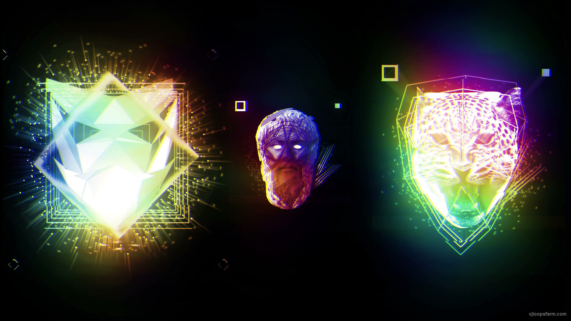 vj video background Trio-Glitch-PSY_1920x1080_29fps_VJLoop_LIMEART_003