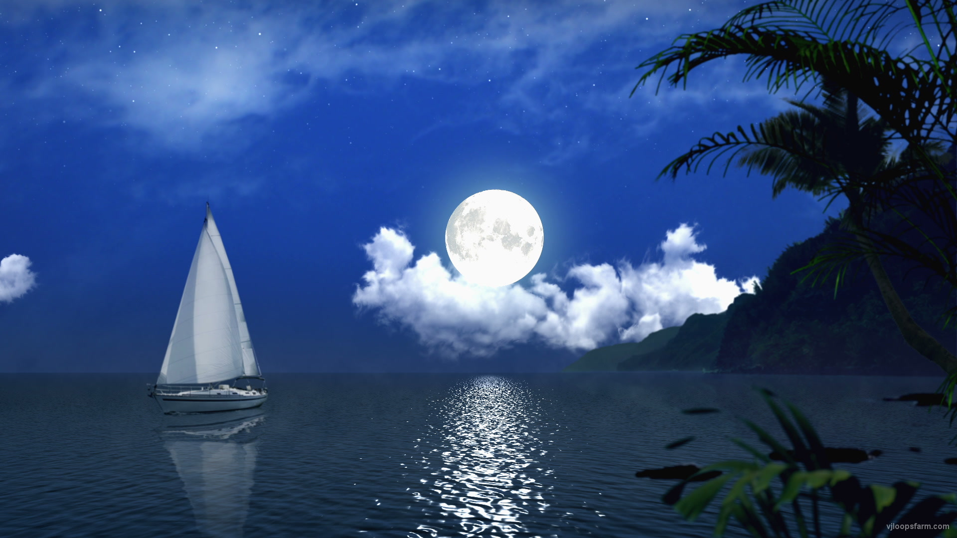 vj video background White-Sail-in-a-night_1920x1080_60fps_VJ_Loops_LIMEART_003