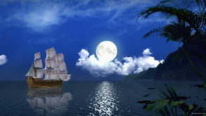 vj video background White-Sails-in-a-night.-Fullmoon_1920x1080_60fps_VJ_Loops_LIMEART_003