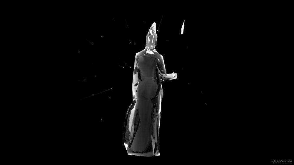 vj video background Artemida-Statue-Holographic-VJ-Loop-LIMEART_003