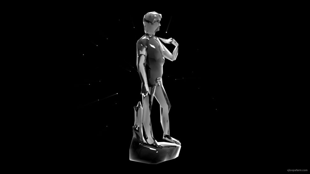 vj video background David-Statue-Holographic-VJ-Loop-LIMEART_003