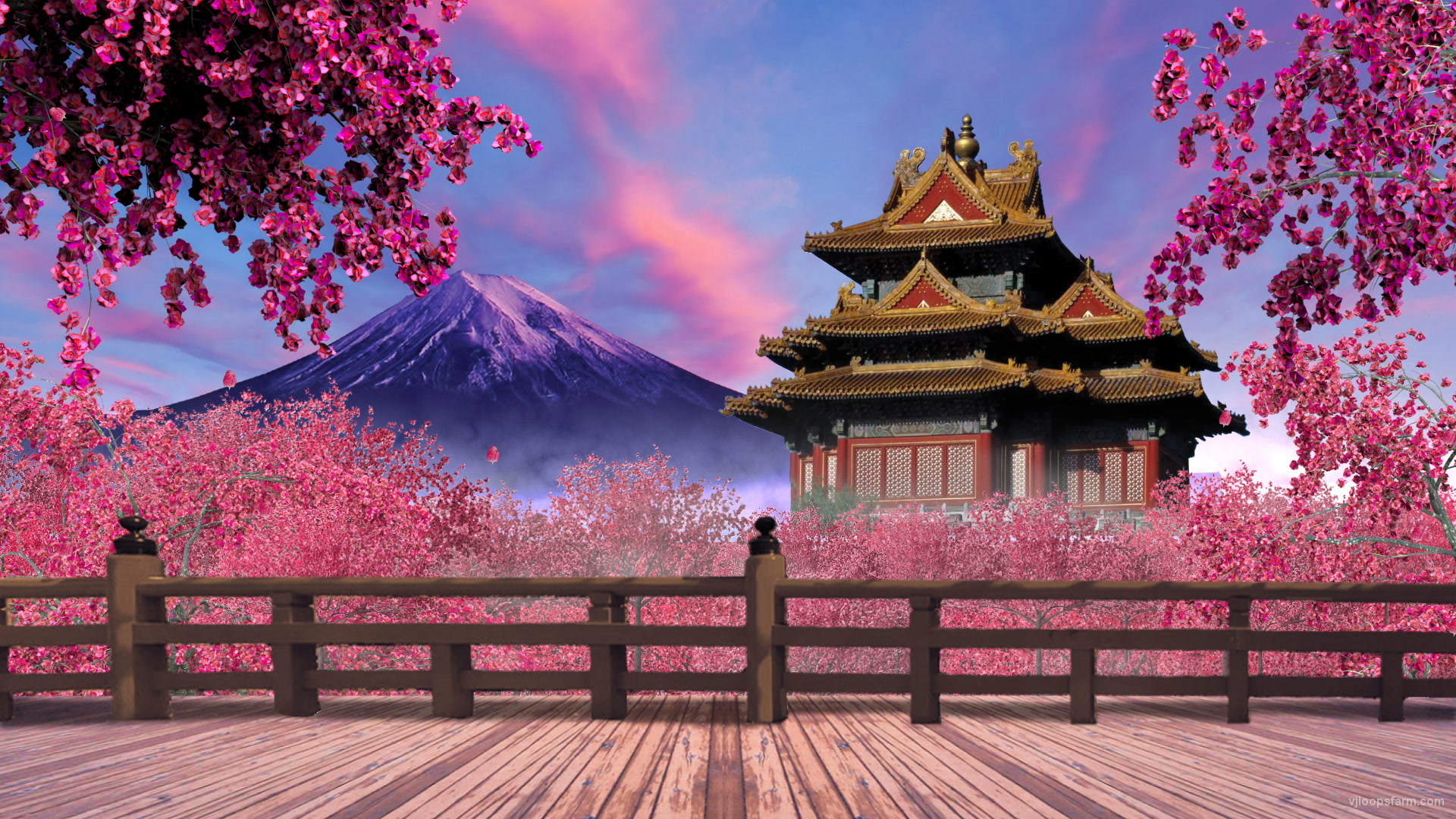 Japanese Garden Wallpapers: VJ Loop. Download Full HD Vj Loop