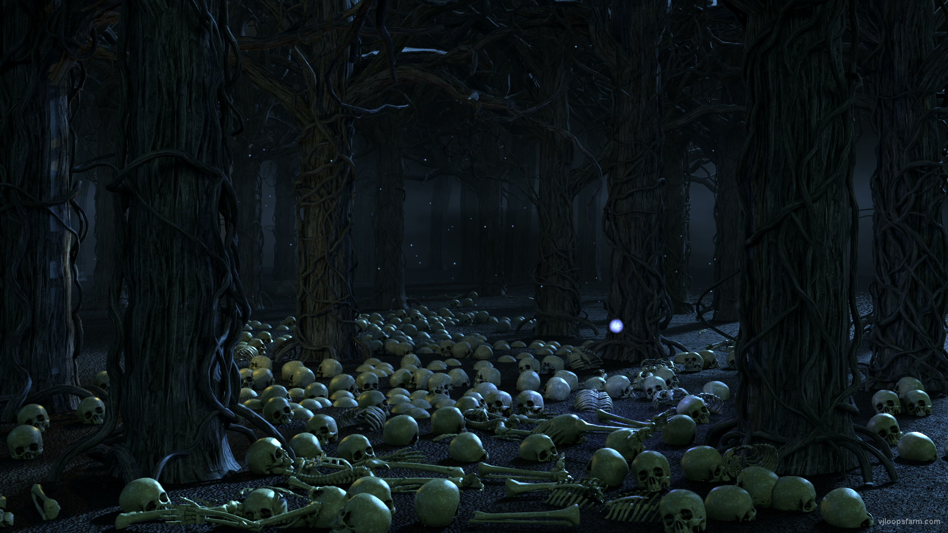 vj video background Skull-Tree-Art_1920x1080_29fps_VJ_Loop_LIMEART_003