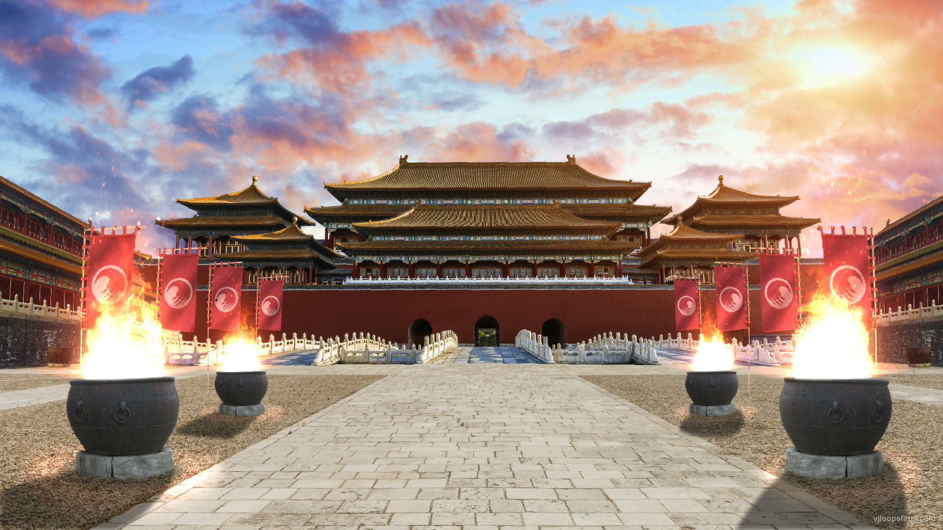 vj video background Traditional-Chinese-buddhist-temple-building_1920x1080_29fps_VJ_Loop_LIMEART_003