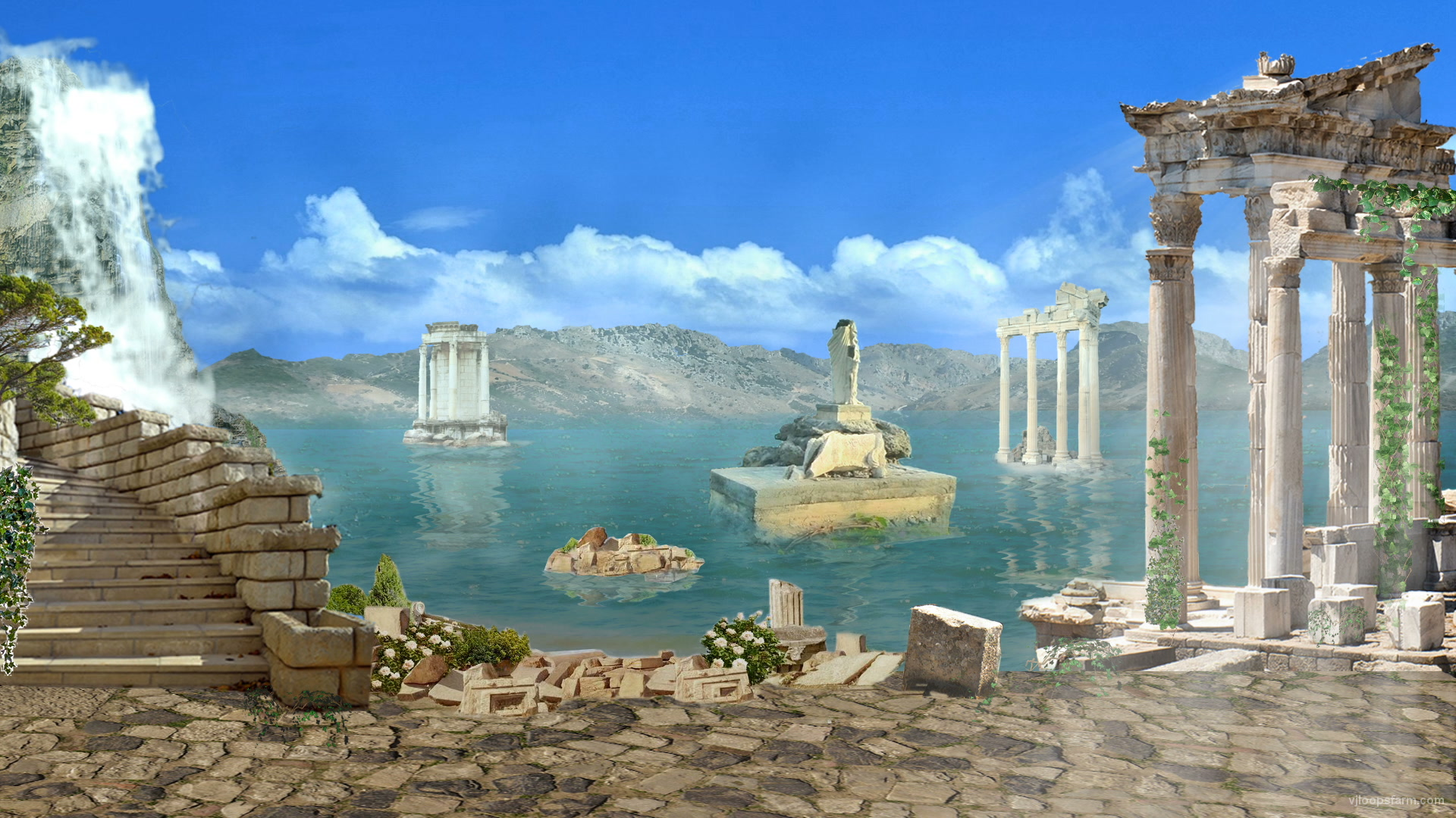 vj video background Greece-Islands-Decorations_1920x1080_29fps_VJ_Loop_LIMEART_003