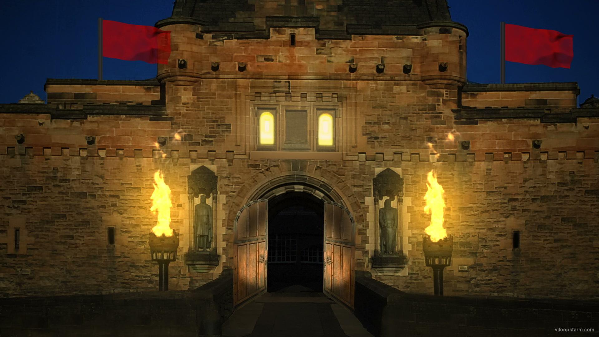 Britain Castle At Night Vj Loop Download Full Hd Vj Loop