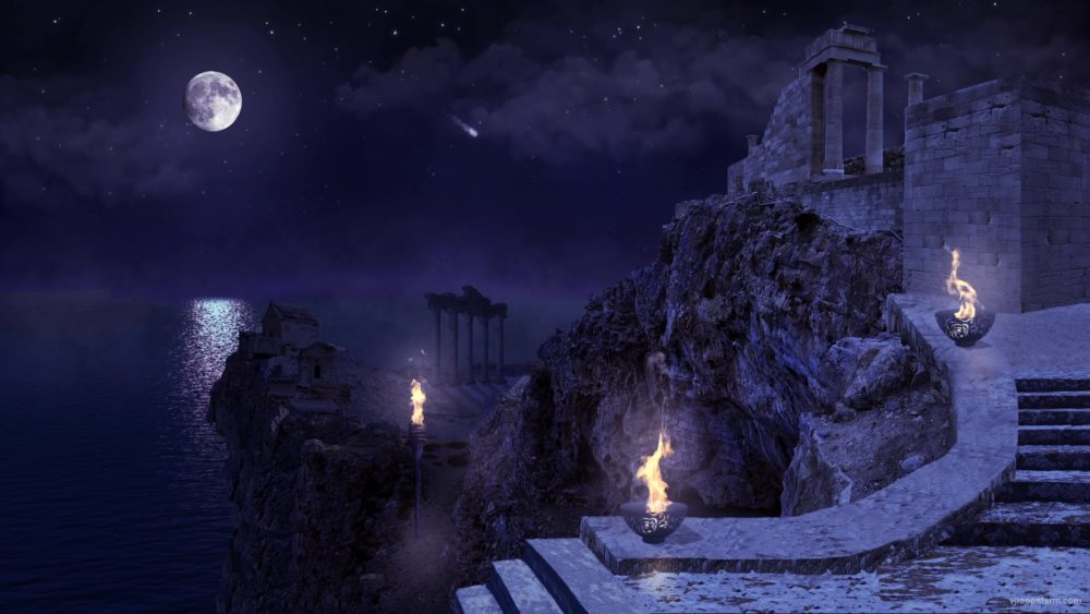 vj video background Greece-Fire-Tample_1920x1080_29fps_VJ_Loop_LIMEART_003