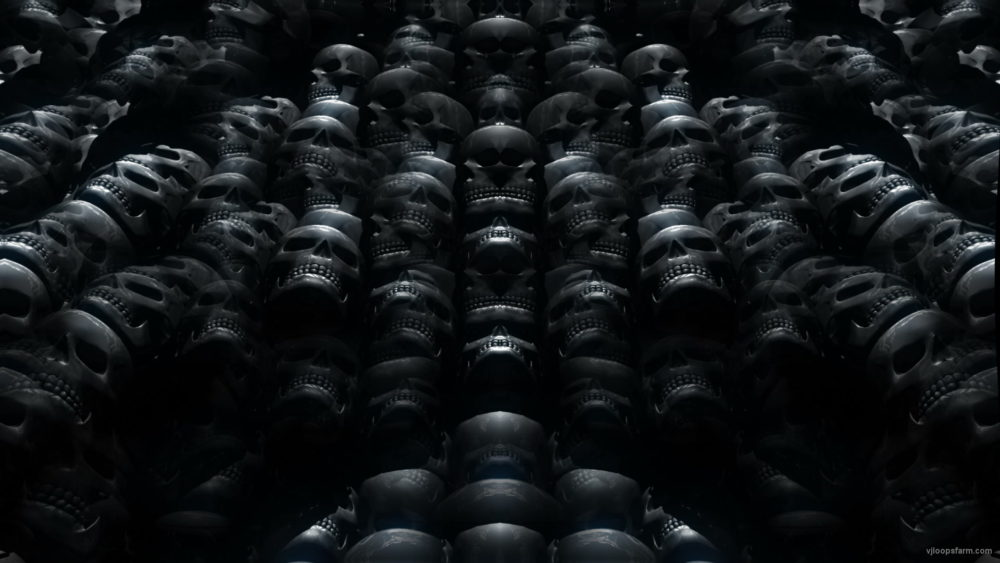vj video background Skull-Rework-Black-VJ-Loop-LIMEART_003