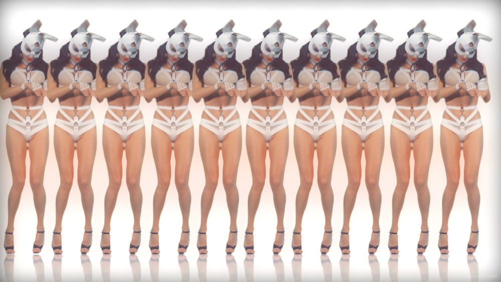 vj video background Wall-Tile-Frau-Rabbit-LIMEART-VJ-Loop-2_003