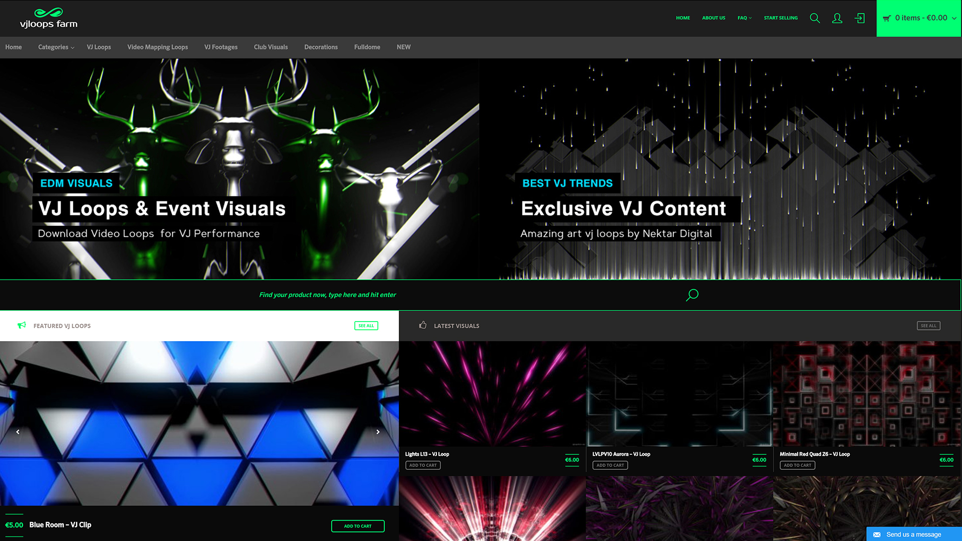 VJ Loops Farm ✅ Video Art Marketplace 4K Video VJ Clips Stock