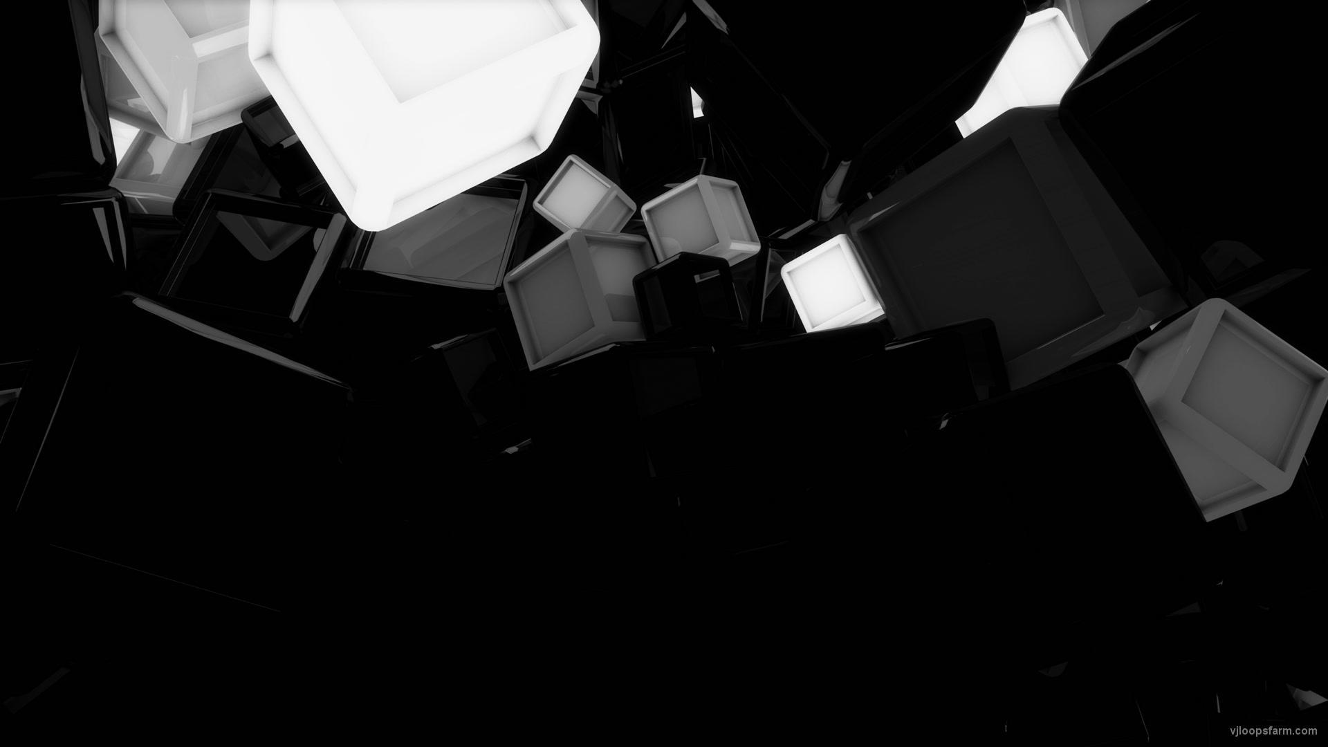 glowing cubes horizontal white 4k vj loop download 4k vj loop