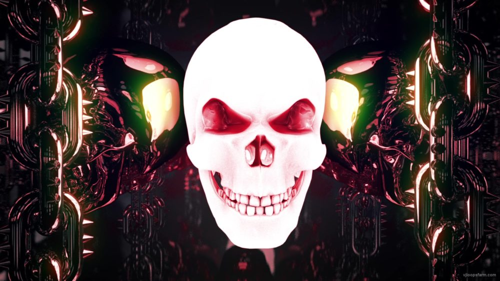 vj video background red-glowing-metal-skulls-vj-loop-8sec_003
