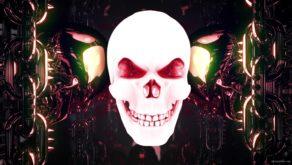 vj video background red-glowing-metal-skulls-vj-loop-8sec_003