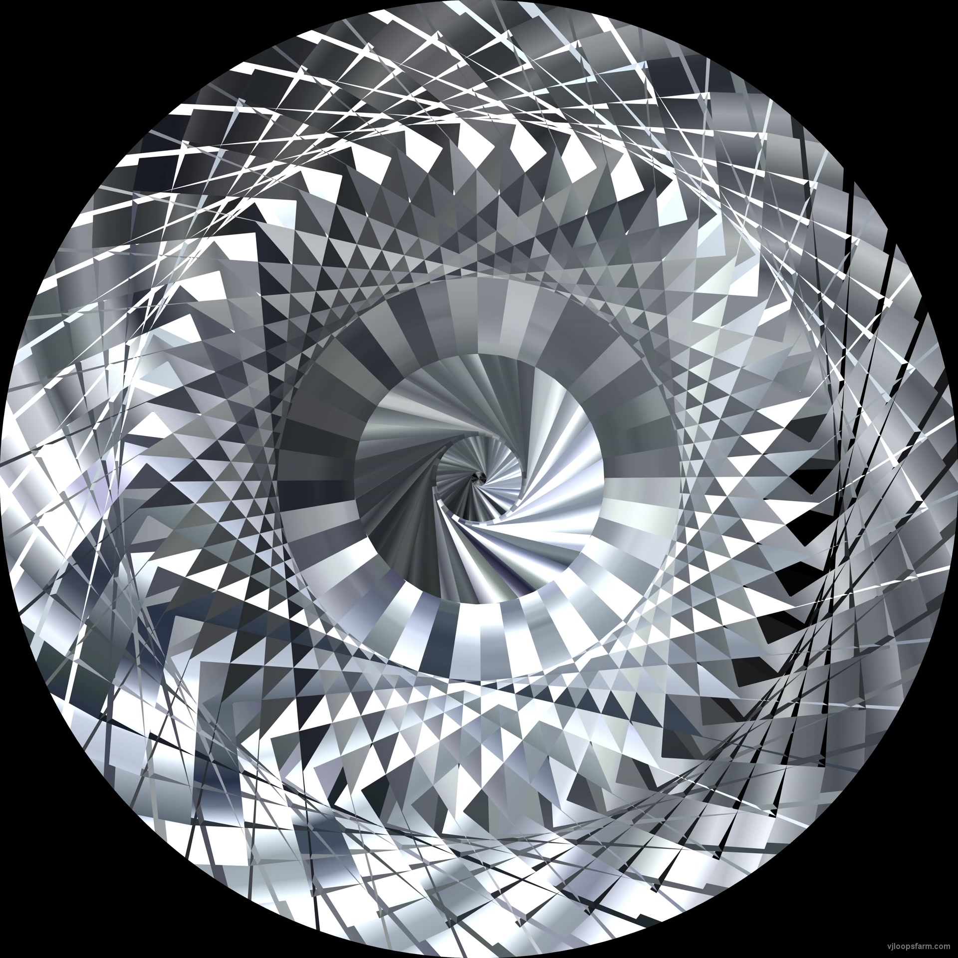 vj video background Abstract-Rotation-Triangles-VJkET-Fulldome-VJ-Loop-High-Speed-Flight-Through-the-Silver-Tunnel-4K_003
