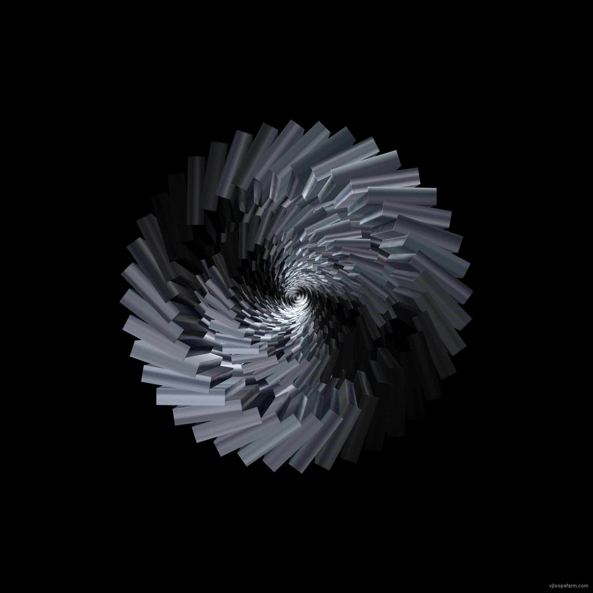 Rotating Silver Chrome Tunnel by VJkET 4K Fulldome VJ Loop