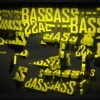 Video-Mapping-BASS-Displace-Text-Word_002 VJ Loops Farm