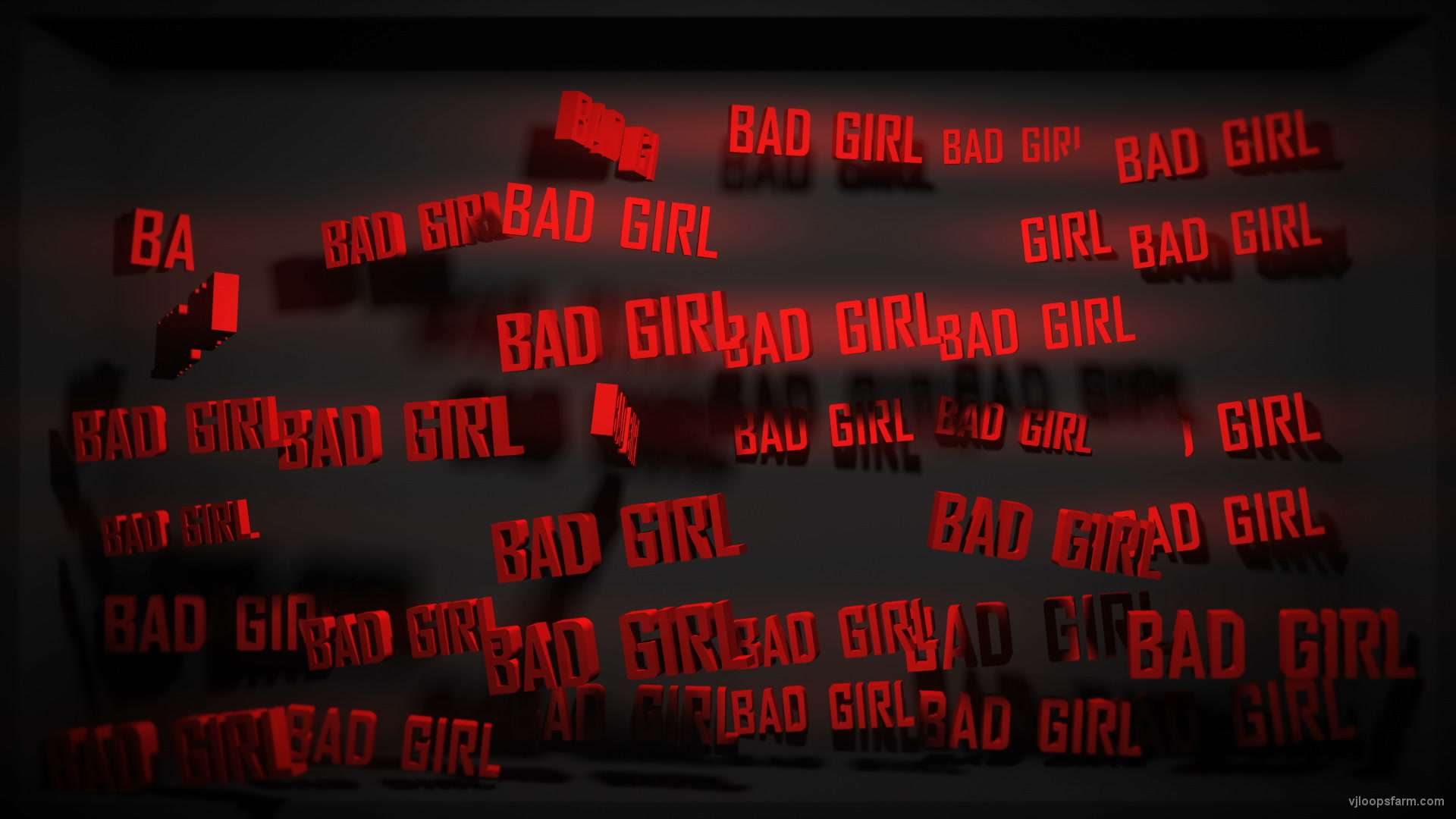 vj video background Video-Mapping-Bad-Girl-Displace-Text-Word_003