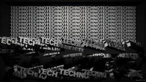 vj video background Video-Mapping-TECHNO-Displace-Text-Word_003