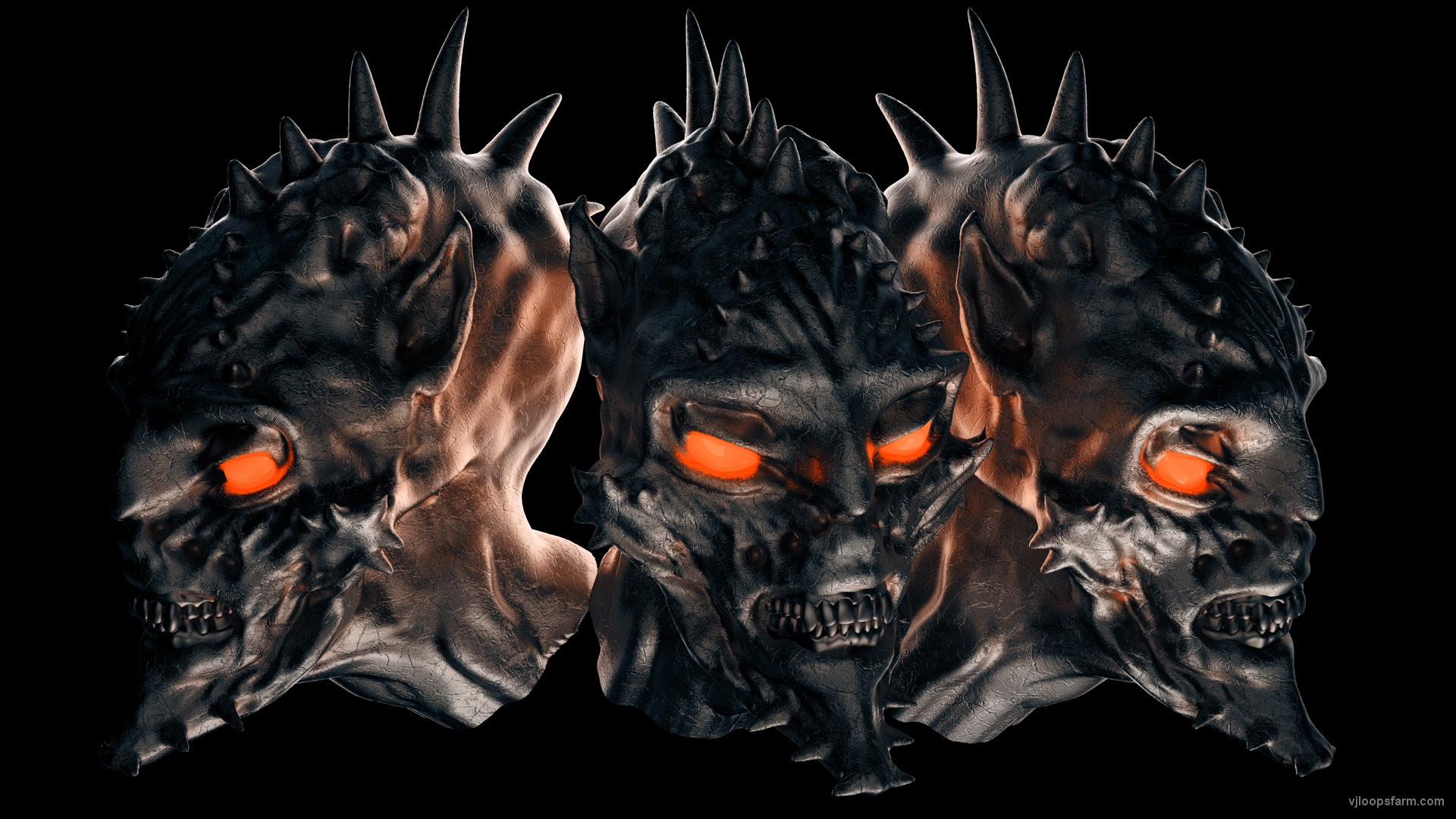 vj video background demon-head-3heads-alpha_003