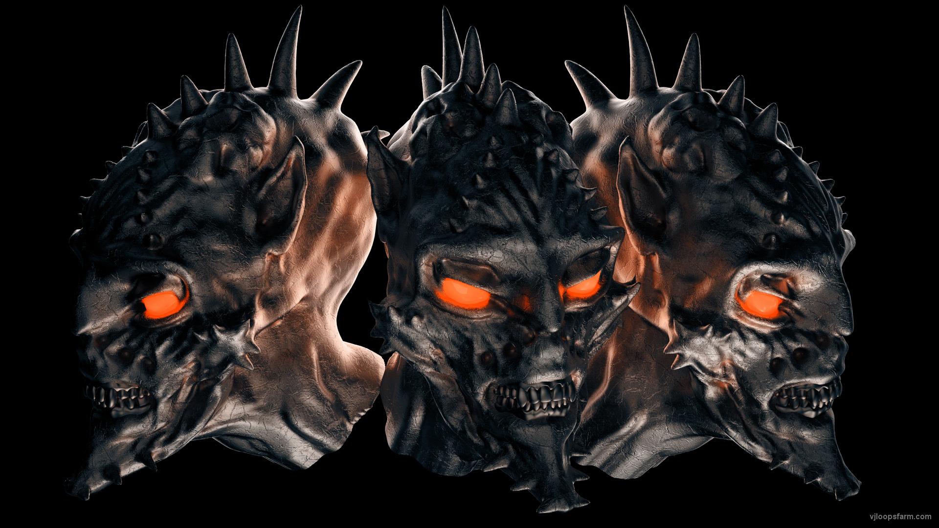 vj video background demon-head-3heads-alpha_003