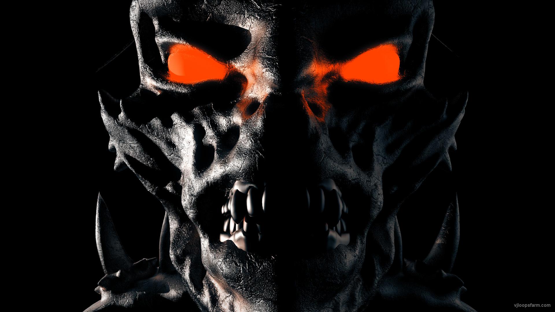 demon-head-shake-alpha_008 VJ Loops Farm