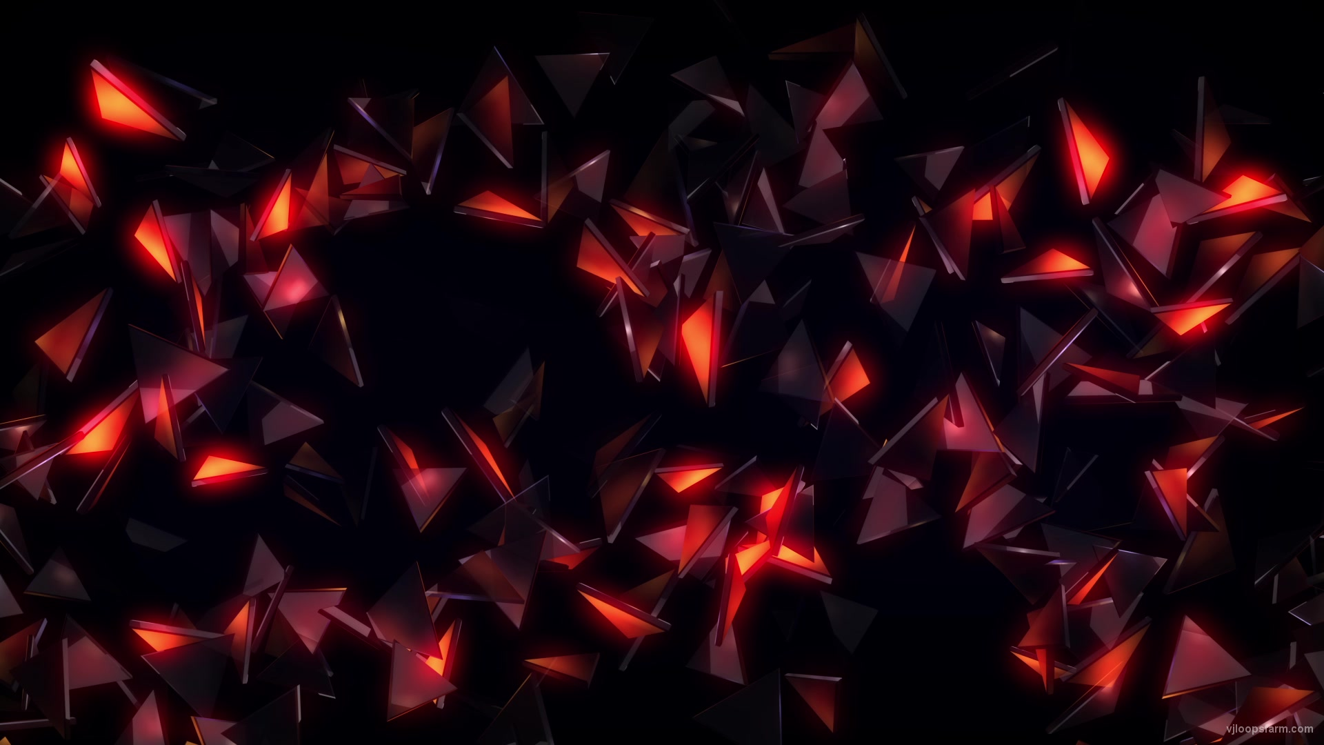 vj video background glowing-glass-triangles-up-down_003