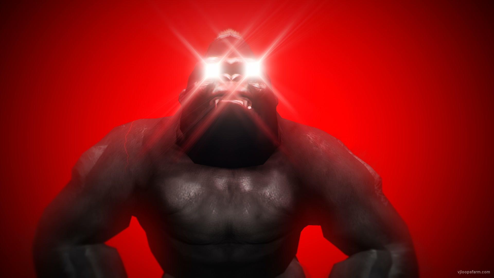 vj video background Gorilla-Eye-Lightning-VJ-Loop-LIMEART_003