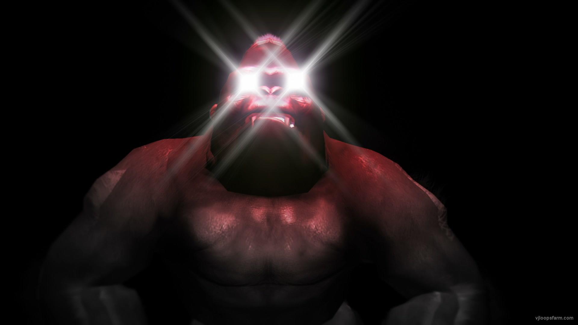 vj video background Gorilla-Eye-Strobe-RedRoom-VJ-Loop-LIMEART_003