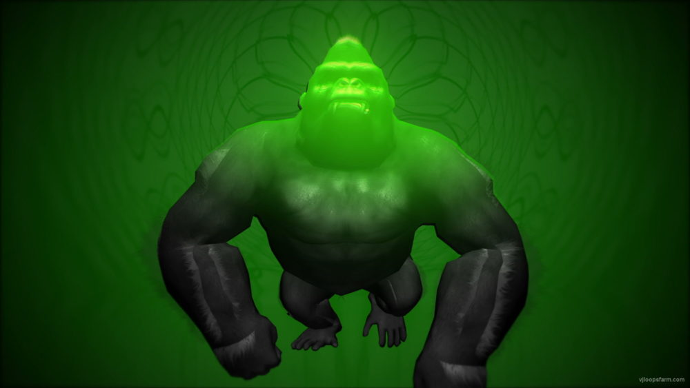 vj video background Gorilla-Green-Small-VJ-Loop-LIMEART_003