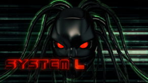 vj video background Black_Flying_Cyborg_Head_Red_Futuristic_Sign_System_Failure_Full_HD_VJ_Loop-1_003