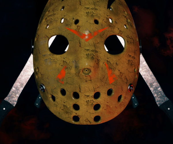 vj video background Flying_Jason_Hockey_Mask_Horror_Movie_Killer_Willain_Knife_Corridor_Full_HD_VJ_Loop_003