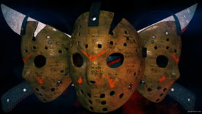 vj video background Jason_Three_Hockey_Masks_Knives_Horror_Movie_Killer_Willain_Full_HD_VJ_Loop_003