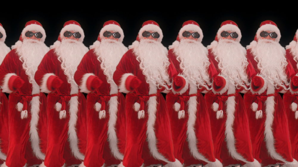vj video background Santa-Claus-Dancing-on-black-screen-Christmas-New-year-Vj-Loop_003